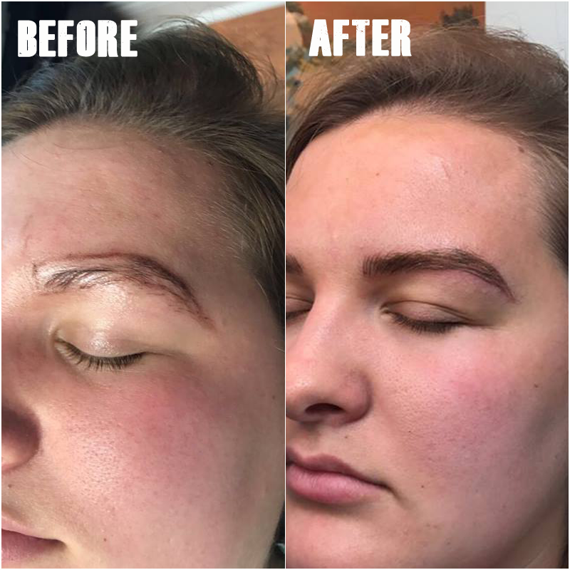 Microblading before after photos